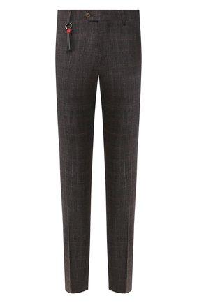 Мужской брюки из смеси шерсти и шелка MARCO PESCAROLO коричневого цвета, арт. SLIM80/4179 | Фото 1