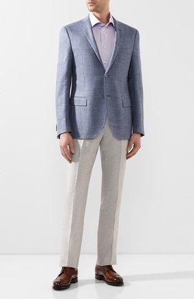 Мужская хлопковая сорочка ETON сиреневого цвета, арт. 3000 79315 | Фото 2