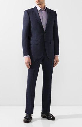 Мужская хлопковая сорочка ETON сиреневого цвета, арт. 3169 79511 | Фото 2