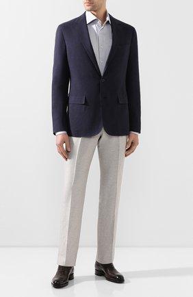 Мужской пиджак из шелка и льна RALPH LAUREN темно-синего цвета, арт. 798794546 | Фото 2