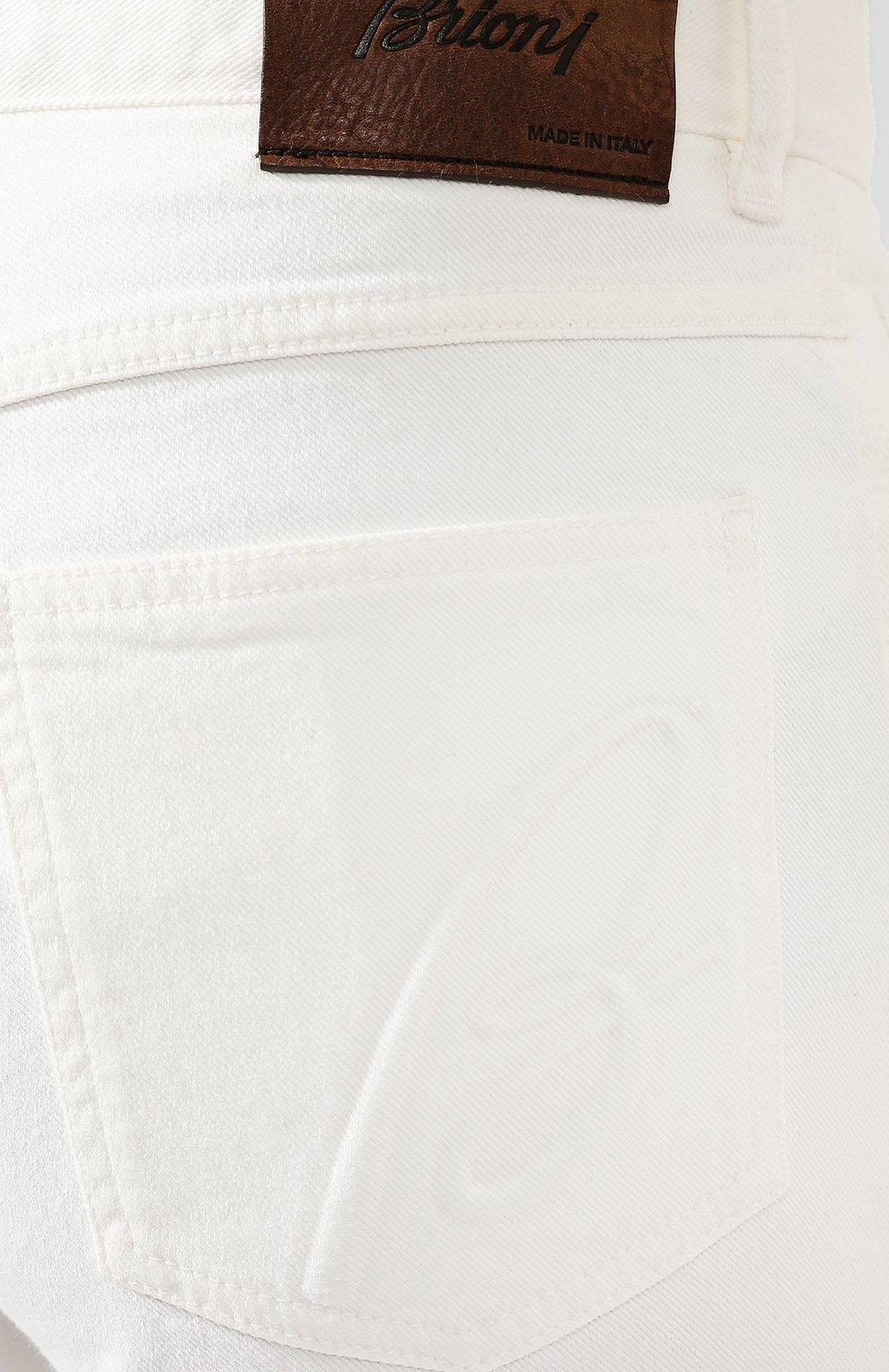 Мужские джинсы BRIONI белого цвета, арт. SPNJ0M/08T01/STELVI0 | Фото 5