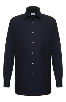 Мужская хлопковая сорочка BRIONI темно-синего цвета, арт. RCLU4H/PZ016 | Фото 1