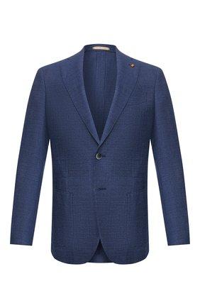 Мужской шерстяной пиджак SARTORIA LATORRE темно-синего цвета, арт. EF74 U70305 | Фото 1