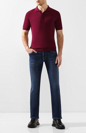 Мужское хлопковое поло SVEVO бордового цвета, арт. 8277/SE20/MP0002   Фото 2