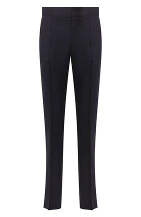 Мужские шелковые брюки ZILLI темно-синего цвета, арт. M0T-40-A-C6039/0001 | Фото 1 (Материал подклада: Купро; Материал внешний: Шелк; Длина (брюки, джинсы): Стандартные; Случай: Формальный; Стили: Классический)