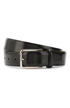Мужской кожаный ремень SANTONI черного цвета, арт. CM35NS003B91E0BRN01 | Фото 1