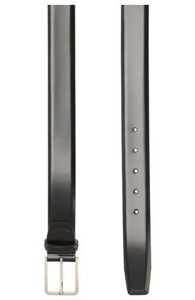 Мужской кожаный ремень SANTONI черного цвета, арт. CM35NS003B91E0BRN01 | Фото 2