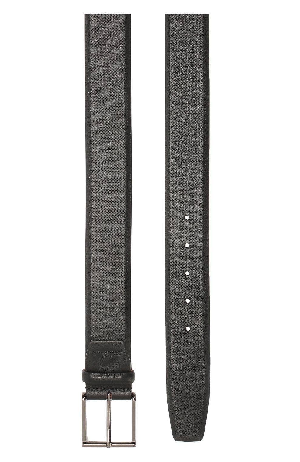 Мужской кожаный ремень SANTONI черного цвета, арт. CM40NS003AA4GVTPN01 | Фото 2