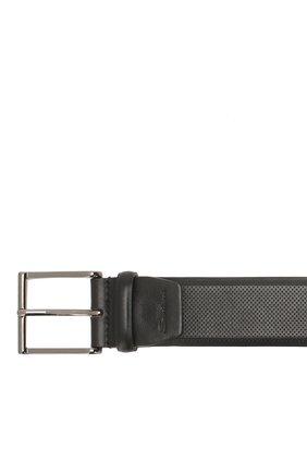 Мужской кожаный ремень SANTONI черного цвета, арт. CM40NS003AA4GVTPN01 | Фото 3