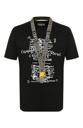 Мужская хлопковая футболка COMME DES FUCKDOWN черного цвета, арт. CDFU766P | Фото 1