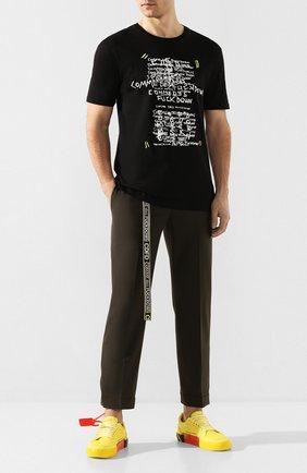 Мужская хлопковая футболка COMME DES FUCKDOWN черного цвета, арт. CDFU766P | Фото 2