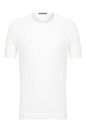 Мужской хлопковый джемпер ANDREA CAMPAGNA белого цвета, арт. P20-PL1002ST   Фото 1