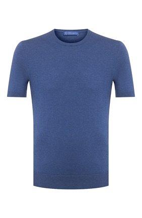 Мужской хлопковый джемпер ANDREA CAMPAGNA синего цвета, арт. P20-PL1002ST | Фото 1