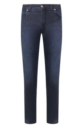 Мужские джинсы ANDREA CAMPAGNA темно-синего цвета, арт. AC302/T158.W240 | Фото 1 (Материал внешний: Хлопок, Растительное волокно, Деним; Длина (брюки, джинсы): Стандартные; Силуэт М (брюки): Прямые)