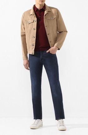Мужские джинсы ANDREA CAMPAGNA темно-синего цвета, арт. AC302/T158.W240 | Фото 2 (Материал внешний: Хлопок, Растительное волокно, Деним; Длина (брюки, джинсы): Стандартные; Силуэт М (брюки): Прямые)