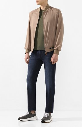 Мужские джинсы ANDREA CAMPAGNA темно-синего цвета, арт. AC302/T41.W207 | Фото 2 (Материал внешний: Хлопок; Длина (брюки, джинсы): Стандартные; Кросс-КТ: Деним; Детали: Потертости; Силуэт М (брюки): Прямые)