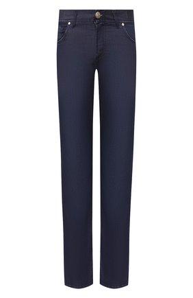 Мужские джинсы ANDREA CAMPAGNA темно-синего цвета, арт. AC302/T84.W248 | Фото 1 (Длина (брюки, джинсы): Стандартные; Материал внешний: Хлопок, Деним; Кросс-КТ: Деним; Силуэт М (брюки): Прямые)