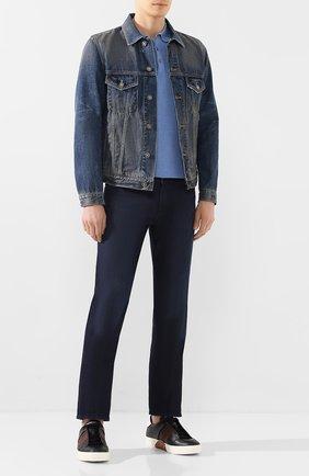 Мужские джинсы ANDREA CAMPAGNA темно-синего цвета, арт. AC302/T84.W248 | Фото 2 (Длина (брюки, джинсы): Стандартные; Материал внешний: Хлопок, Деним; Кросс-КТ: Деним; Силуэт М (брюки): Прямые)