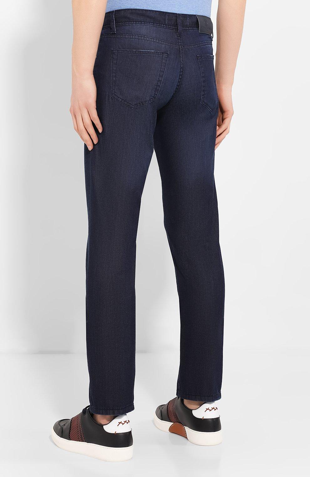 Мужские джинсы ANDREA CAMPAGNA темно-синего цвета, арт. AC302/T84.W248   Фото 4