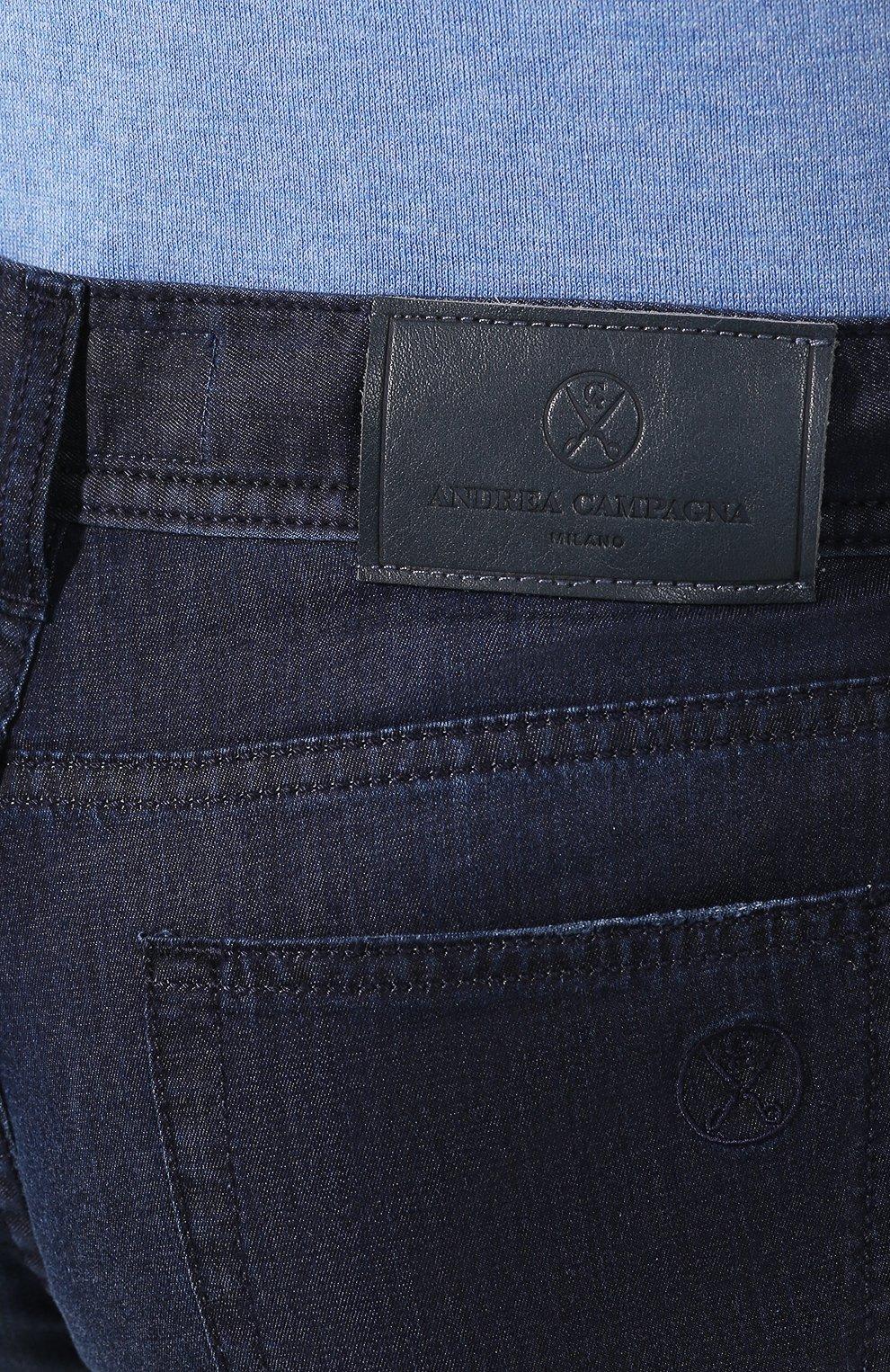 Мужские джинсы ANDREA CAMPAGNA темно-синего цвета, арт. AC302/T84.W248   Фото 5