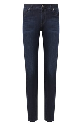 Мужские джинсы ANDREA CAMPAGNA темно-синего цвета, арт. AC402/T42.W242 | Фото 1 (Длина (брюки, джинсы): Стандартные; Материал внешний: Хлопок, Деним; Силуэт М (брюки): Прямые)