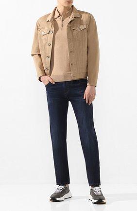 Мужские джинсы ANDREA CAMPAGNA темно-синего цвета, арт. AC402/T42.W242 | Фото 2 (Длина (брюки, джинсы): Стандартные; Материал внешний: Хлопок, Деним; Силуэт М (брюки): Прямые)