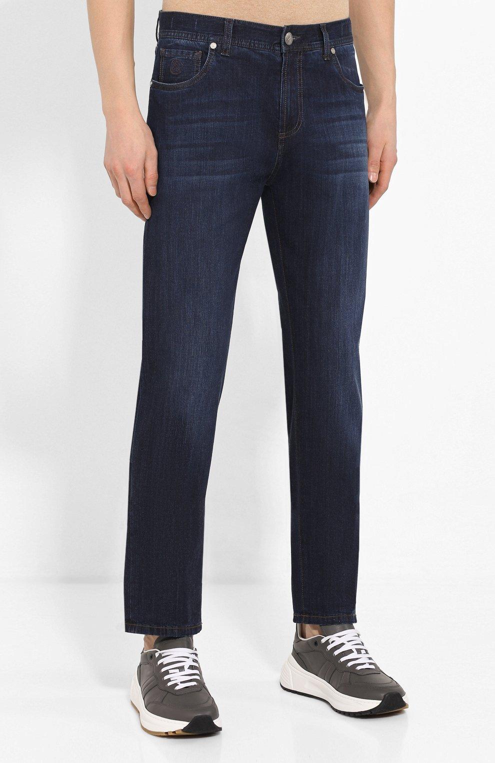Мужские джинсы ANDREA CAMPAGNA темно-синего цвета, арт. AC402/T42.W242 | Фото 3