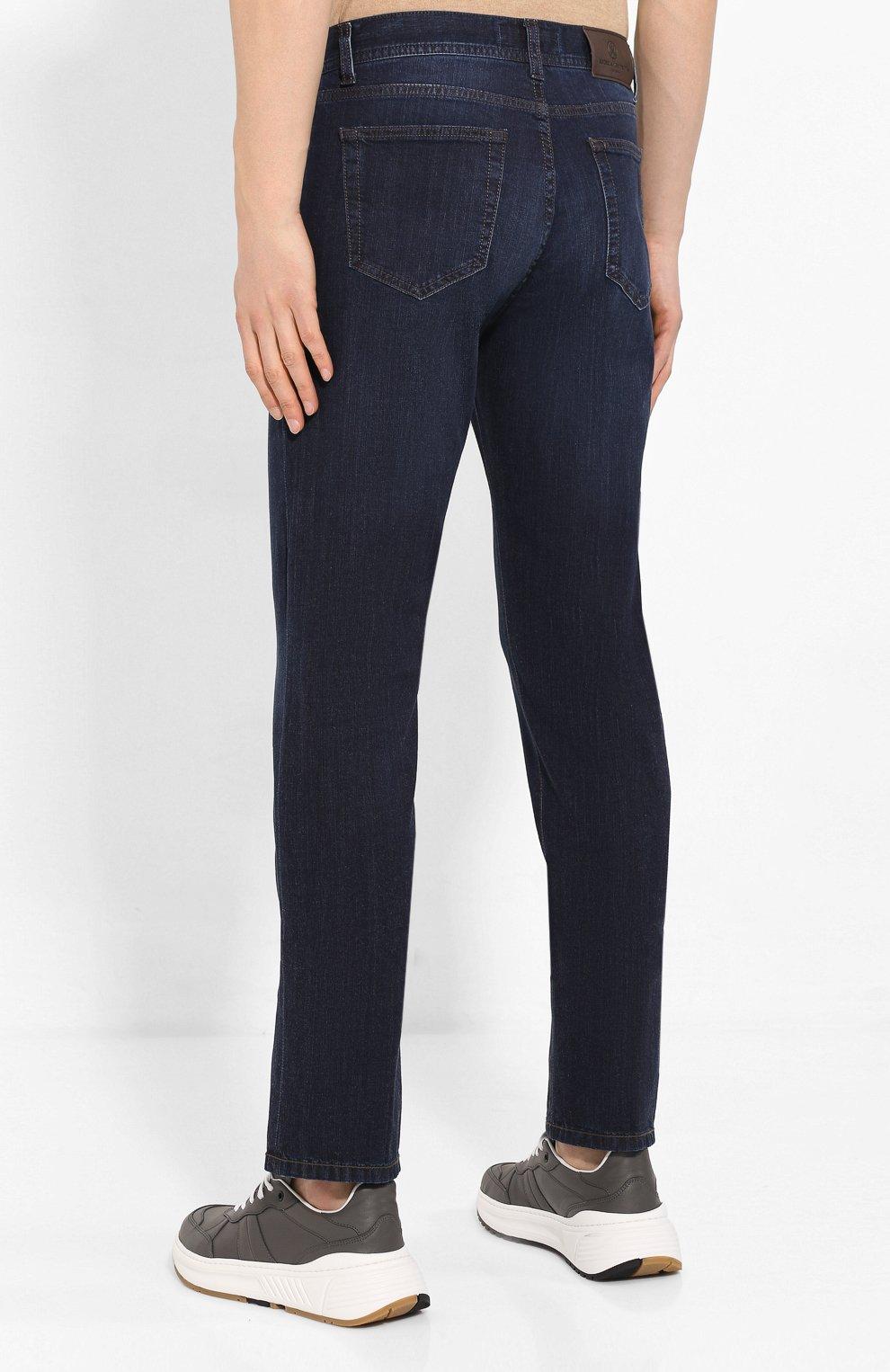 Мужские джинсы ANDREA CAMPAGNA темно-синего цвета, арт. AC402/T42.W242 | Фото 4