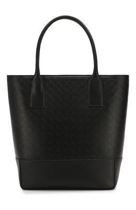 Мужская кожаная сумка-тоут BOTTEGA VENETA черного цвета, арт. 620593/VCRE2 | Фото 1