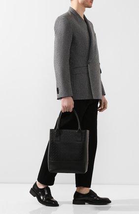 Мужская кожаная сумка-тоут BOTTEGA VENETA черного цвета, арт. 620593/VCRE2 | Фото 2