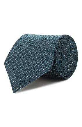 Мужской шелковый галстук CORNELIANI зеленого цвета, арт. 85U302-0120320/00 | Фото 1