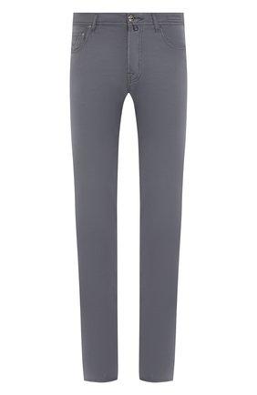 Мужской брюки из смеси хлопка и шелка JACOB COHEN темно-серого цвета, арт. J688 C0MF 01854-S/53   Фото 1