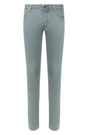 Мужские джинсы JACOB COHEN зеленого цвета, арт. J688 C0MF 01830-V/53 | Фото 1