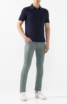 Мужские джинсы JACOB COHEN зеленого цвета, арт. J688 C0MF 01830-V/53 | Фото 2