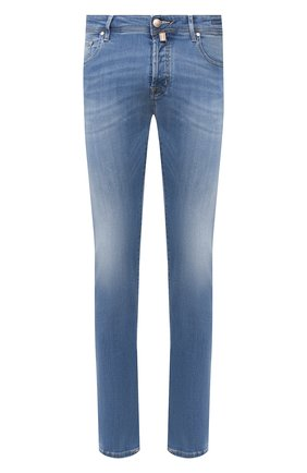 Мужские джинсы JACOB COHEN голубого цвета, арт. J688 C0MF 01378-W3/53 | Фото 1