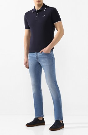Мужские джинсы JACOB COHEN голубого цвета, арт. J688 C0MF 01378-W3/53 | Фото 2