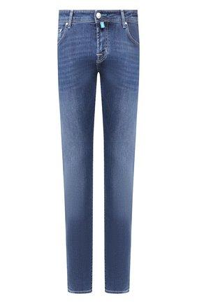 Мужские джинсы JACOB COHEN синего цвета, арт. J625 C0MF 00918-W2/53 | Фото 1