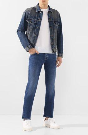 Мужские джинсы JACOB COHEN синего цвета, арт. J625 C0MF 00918-W2/53 | Фото 2