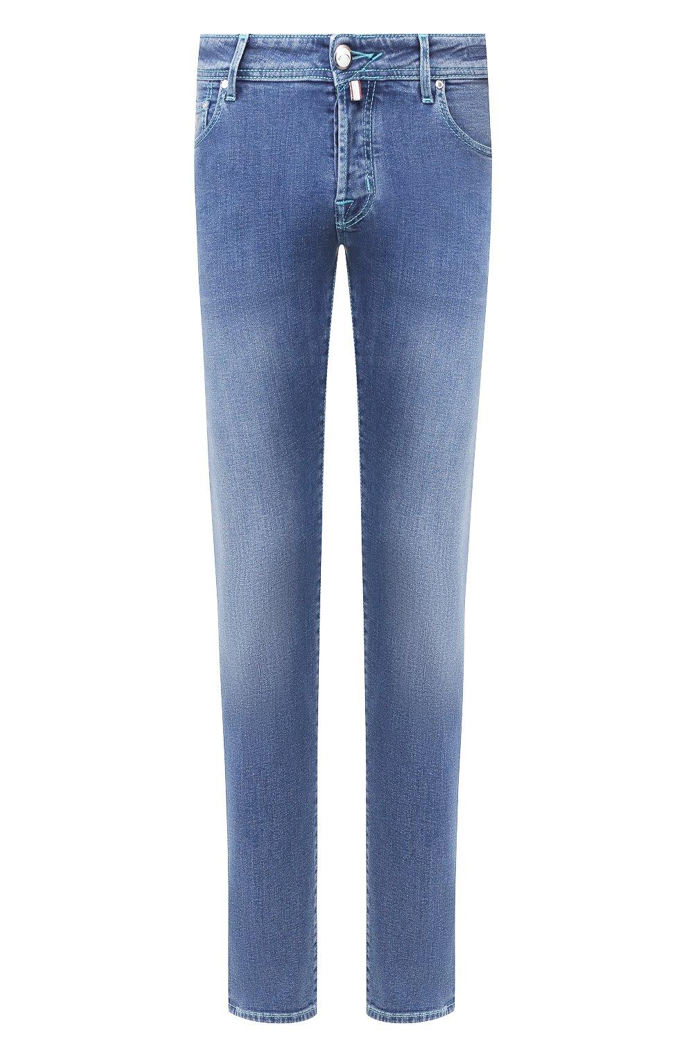 Мужские джинсы JACOB COHEN голубого цвета, арт. J622 C0MF 01850-W3/53   Фото 1
