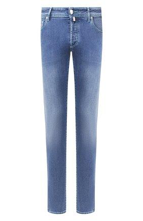 Мужские джинсы JACOB COHEN голубого цвета, арт. J622 C0MF 01850-W3/53 | Фото 1