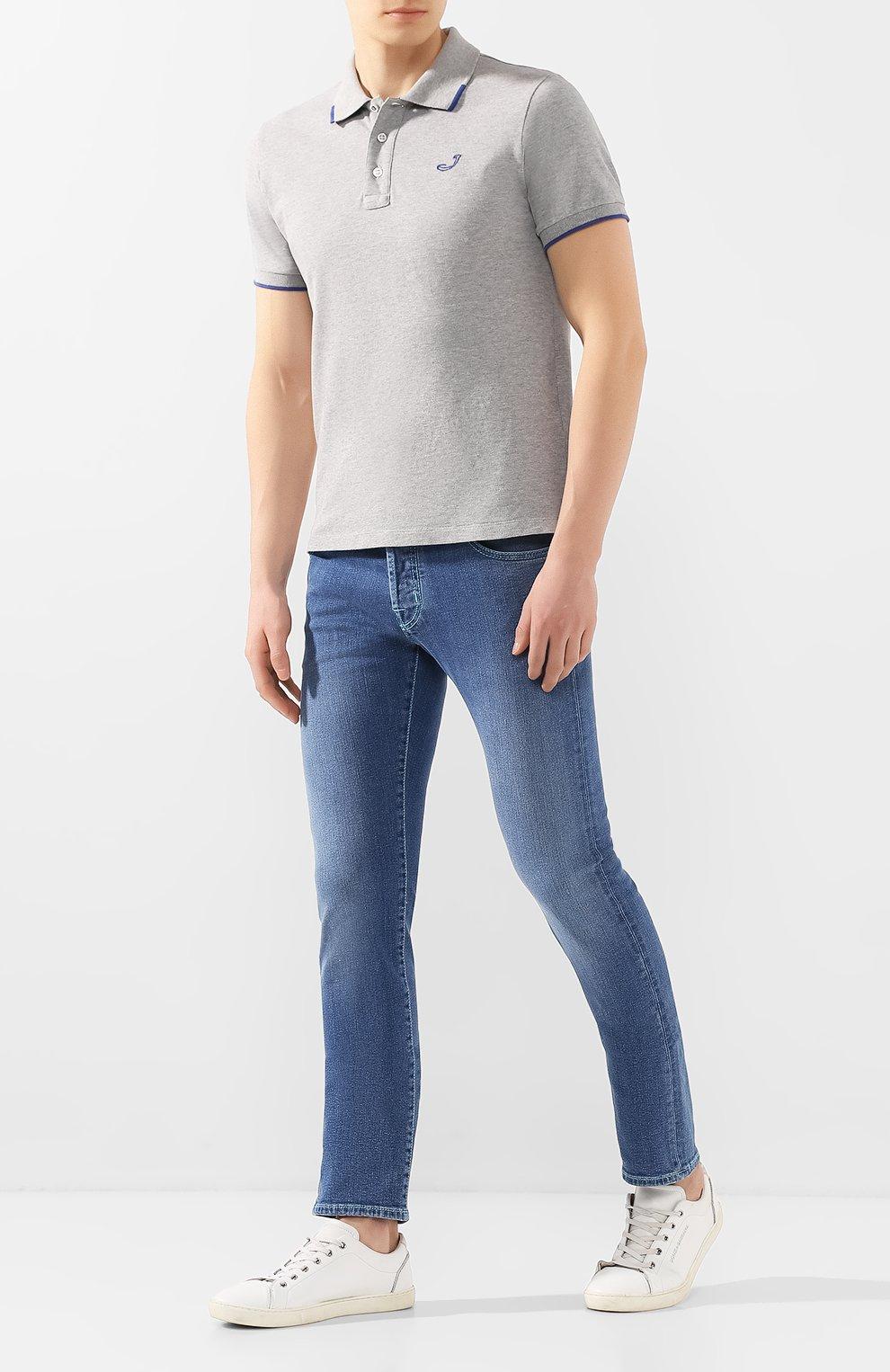 Мужские джинсы JACOB COHEN голубого цвета, арт. J622 C0MF 01850-W3/53   Фото 2
