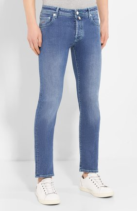 Мужские джинсы JACOB COHEN голубого цвета, арт. J622 C0MF 01850-W3/53   Фото 3