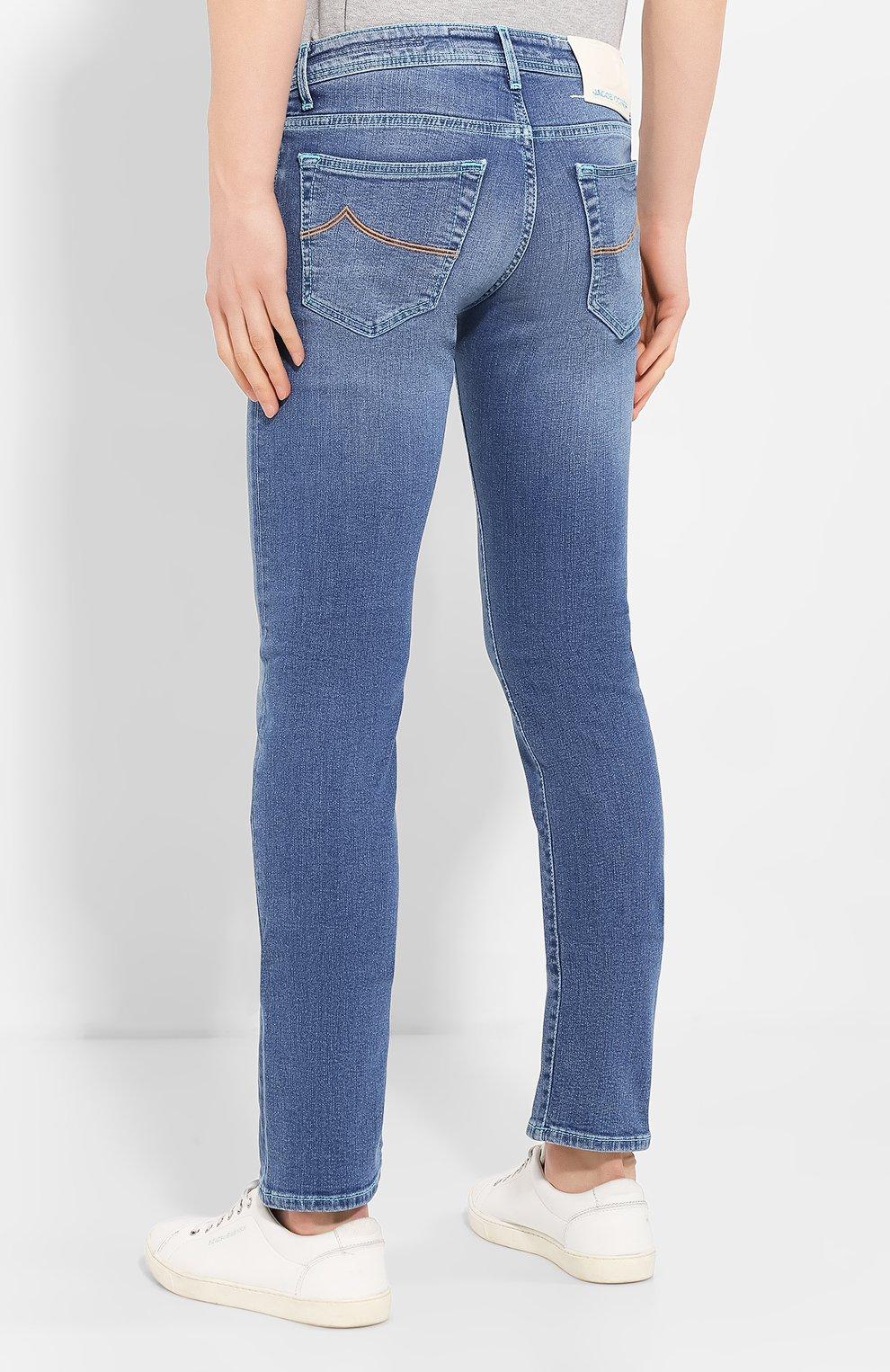 Мужские джинсы JACOB COHEN голубого цвета, арт. J622 C0MF 01850-W3/53   Фото 4