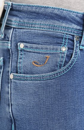 Мужские джинсы JACOB COHEN голубого цвета, арт. J622 C0MF 01850-W3/53   Фото 5