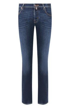 Мужские джинсы JACOB COHEN темно-синего цвета, арт. J620 LIMITED C0MF 08792-W1/53 | Фото 1