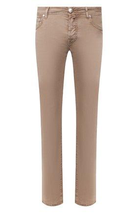 Мужской хлопковые брюки JACOB COHEN темно-бежевого цвета, арт. J620 C0MF 06510-V/53 | Фото 1