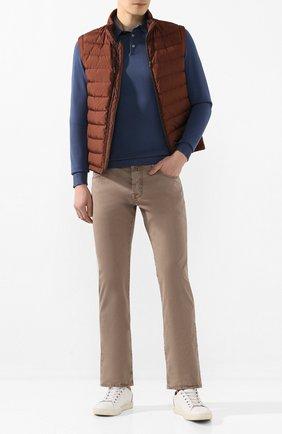Мужские хлопковые брюки JACOB COHEN темно-бежевого цвета, арт. J620 C0MF 06510-V/53   Фото 2