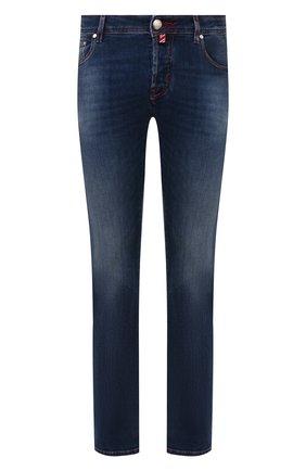Мужские джинсы JACOB COHEN синего цвета, арт. J620 C0MF 01855-W1/53 | Фото 1