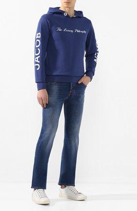 Мужские джинсы JACOB COHEN синего цвета, арт. J620 C0MF 01855-W1/53 | Фото 2