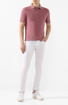 Мужское хлопковое поло JACOB COHEN розового цвета, арт. J4004 01478-V/53 | Фото 2